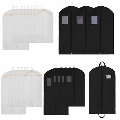 Zippered Garment Bags Suits Dresses Protective Storage Wardrobe Clothes US