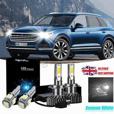 VW Vento 1H2 H4 501 100w Super White Xenon HID High//Low//LED Side Headlight Bulbs