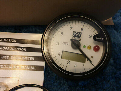 SPA Design 80mm Tachometer With Digital Speedometer