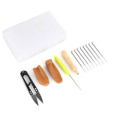 Wool Felt Tools Needle Felting Starter Kit Mat + Scissors + Needle Craft Kit Set