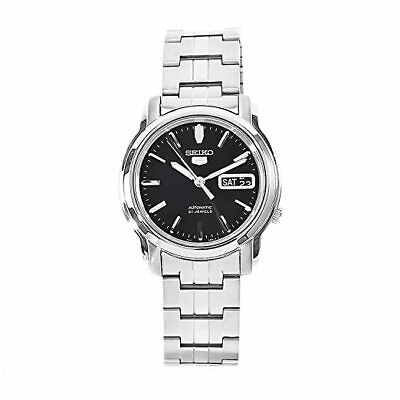 Seiko 5 Automatic Black Dial Silver Stainless Steel Mens Watch SNKK71K1 RRP £169