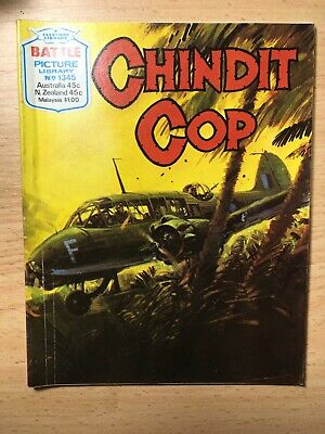 "1979 Fleetway Battle Picture Library Comic # 1345 ""Chindit Cop""  Very Good Cond"