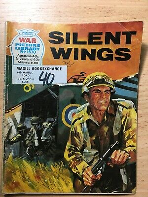 "1979 Fleetway War Picture Library Comic # 1670 ""Silent Wings"""