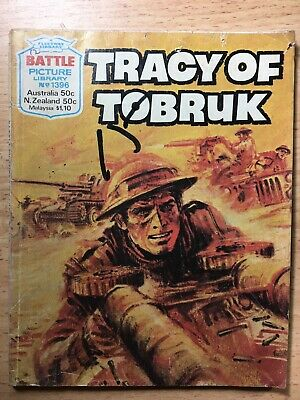 "1980 Fleetway Battle Picture Library Comic # 1396 ""Tracy of Tobruk"""