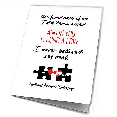 Personalised Anniversary Gifts For Her Him Puzzle Print Wife Husband Card