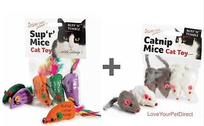 Sharples Catnip Mice Ruff n Tumble and Cats Cat Nip feathered Mouse  TWO PACKS