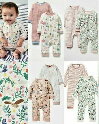 RRP £14 Cute NEW Ex Baby Boden Fun Rompers 0-2 Years