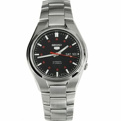 Seiko 5 Automatic Black Dial Silver Stainless Steel Mens Watch SNK617K1 RRP £169