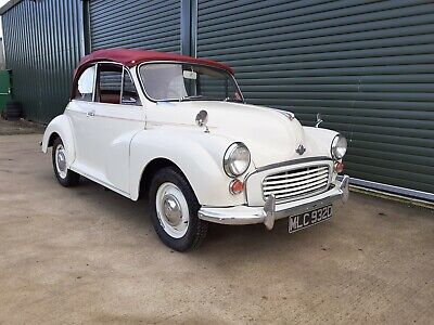 1966 Morris Minor Tourer Old English white with red trim