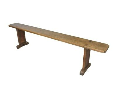 Reclaimed Antique Victorian Solid Oak Bench - Traditional Church Bench