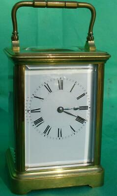 Henry Jacot Antique 8 Day Striking Grande  Corniche Carriage Clock