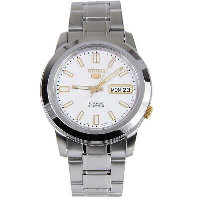 Seiko 5 Automatic Silver Dial Stainless Steel Mens Watch SNKK07K1 RRP £169