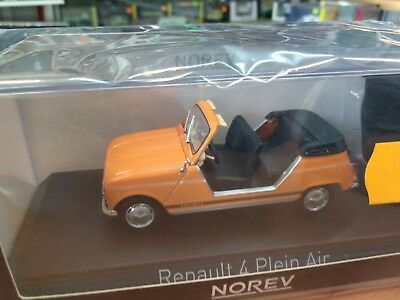 Miniature 1/43 Norev Renault 4 l r4 plein air orange 1988