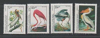 Thematic Stamps Animals - GUINEA BISSAU 1985 AUDUBON BIRDS 4v 920/3 mint