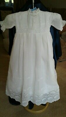 Vintage Original Babys Christening Robe Beautifully Handmade 20 /30s NOW REDUCED