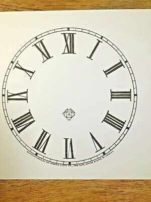 5 Inch Ansonia Clock Replacement Paper Dial             (Lot142)