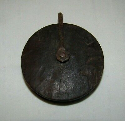 Antique Longcase/Bracket Clock Weight Chain Pulley - Hand Carved Mahogany c1790
