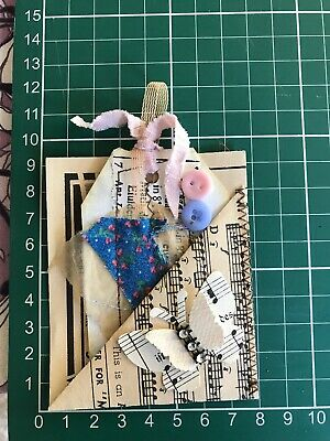 Junk Journal Essentials  Pouch Pocket Tucks Tags Vintage Music Pages Shabby Chic