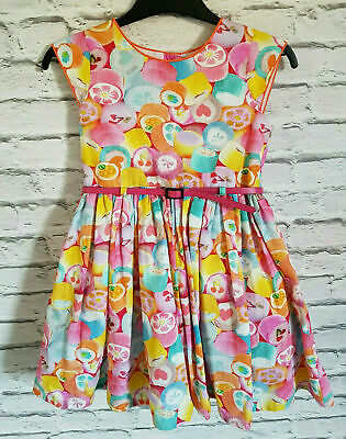 Next Girl Summer Party Holiday Dress With Belt Age 3-4 Years 104cm 100%Cotton