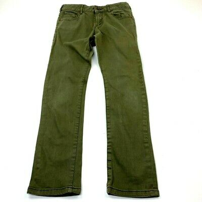 Scotch Shrunk Boys Be Nice Straight Jeans Green 5 Pocket Stretch Denim Pants 10