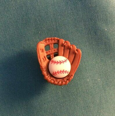 Cute BASEBALL & MITT GLOVE Sports Sport Button Croc Hole Accessories Shoe Charm