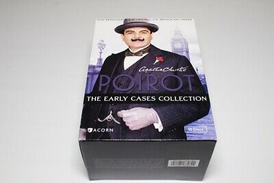18 Disc DVD Box Set Agatha Christie Poirot The Early Cases Collection