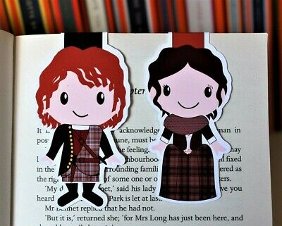 Outlander Magnetic Bookmarks | Jamie and Claire