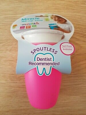 Baby Toddler Sippy Cup Spoutless 360 296ml - Pink (Munchkin)