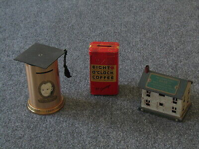 Collection Of 3 Vintage/Antique Toy Banks