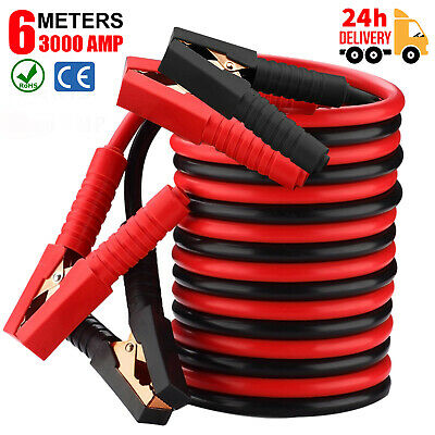 Jump Leads Heavy Duty 3000AMP Car Truck Booster Cables 6M Battery Start Jumper