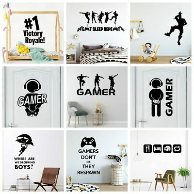 Gamer Vinyl Wall Sticker For Kids Rooms Decoration decal Poster boys Gaming PS4