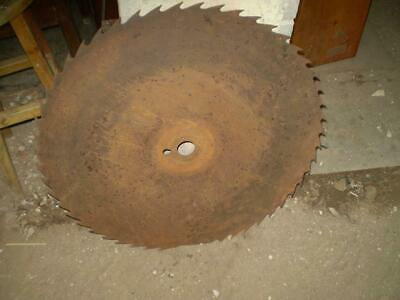 Vintage  75 cm Diamiter  round saw blade rustic man cave or garden feature
