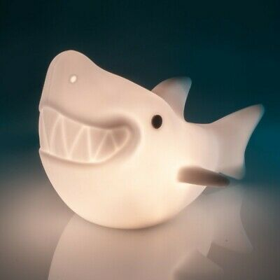 ~❤️SHARK NIGHT LIGHT Rechargeable USB Soft/Cool touch LED white glow New Release