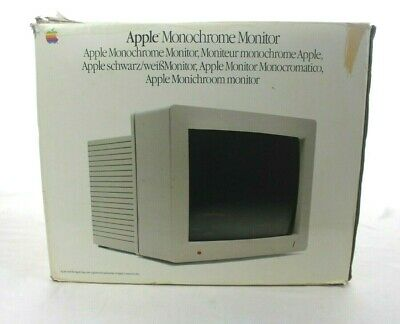 Apple Monitor -Monochrome  Box Only Display Man Cave or Storage Box
