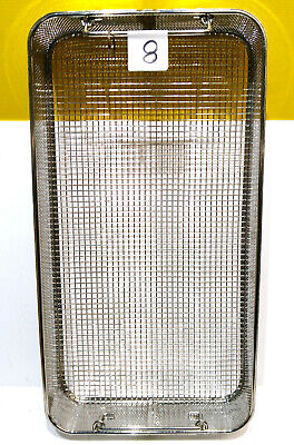 Stainless Steel Basket Tray Mesh Sterilization Parts Dental Cleaning Medical Lab