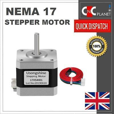 NEMA 17 Stepper Motor 4 wire 1.5a High Torque 42N + Cable 3D Printer CNC UK FAST