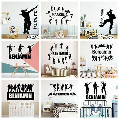 Custom Name Battle Royal Wall Sticker Name PS4 Wall Decals Gaming Stickers Decal