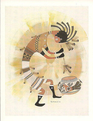 Signed and numbered Kokopelli print by Robert Montoya
