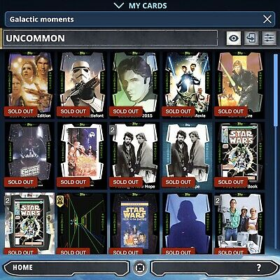 Topps Star Wars Card Trader: Galactic Moments Marathon Set (complete)