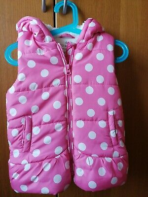 Girls pink body warmer from matalan, size 3-4 years, very good condition