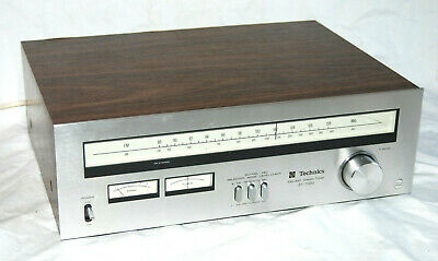 Vintage Technics St-7300 Silver Fm/Am Stereo Tuner - Working