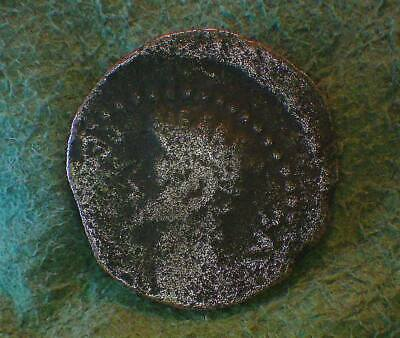 AUGUSTUS  12 BC   Very Fine Provincial Coin: Spain  (GREAT REVERSE with Wreath )