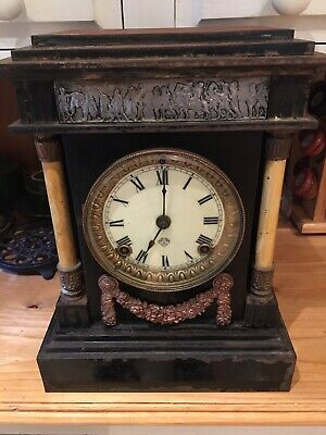 Antique Iron Ansonia Mantle Clock   Not working for restoration