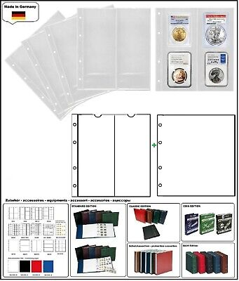 1 look 312944 Coin Sheets Numoh NH2VC 2x210x81 + Zwl-W for US Slab Coin Capsules