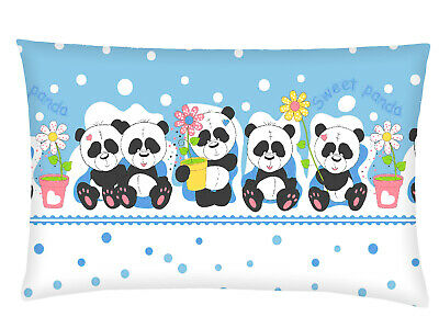 Infant Baby Toddler Anti Allergy Flat  Soft Pillow for Crib Pram Car Seat  Panda