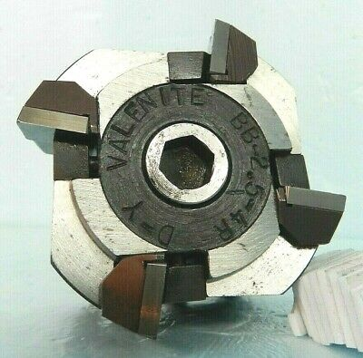 """Valenite 2.5"""" Carbide Insert Face Milling Cutter, 4-Inserts, BB-2.5-4R D-Y, 3/4"""""""
