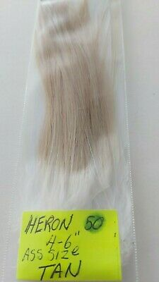 "50 HERON FEATHERS "" SPEY ""  ( Tan ) Size=  4 "" - 6 """