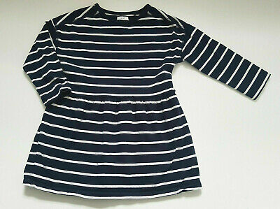 Next Girl Spring Dress Navy Age 4 Years 104cm 100%Cotton