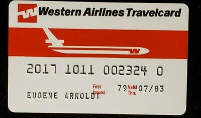 Western Airlines Travercard credit card exp 1983♡Free Shipping♡cc861