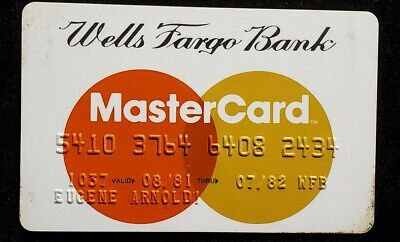 Wells Fargo Bank Mastercard Credit Card exp 1982 ♡Free Shipping♡cc874♡